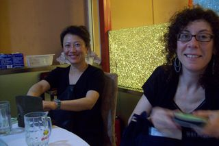 stephanie rothenberg and millie chen, at CAFA in beijing 2010