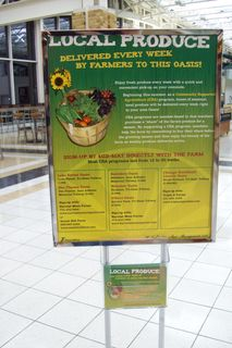 local produce, at the oasis