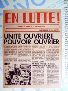 En Lutte!, no. 1 mai 1979