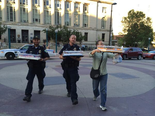 Cops and cakes
