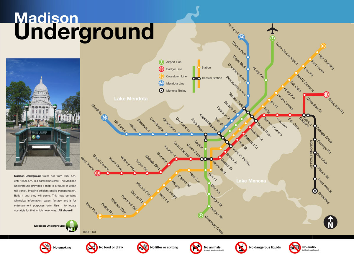 Madison Metro Map.Madison Mutual Drift